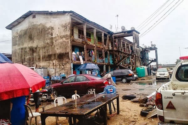 One of the deteriorating Police-Barracks in Nigeria (The Bridge)