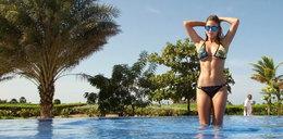 Hiszpańska golfistka zachwyca na plaży