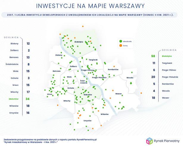 Inwestycje na mapie Warszawy