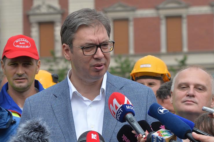 Aleksandar Vučić Trg republike
