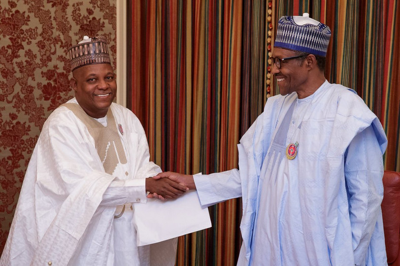 Buhari and Kashim Shettima of Borno State
