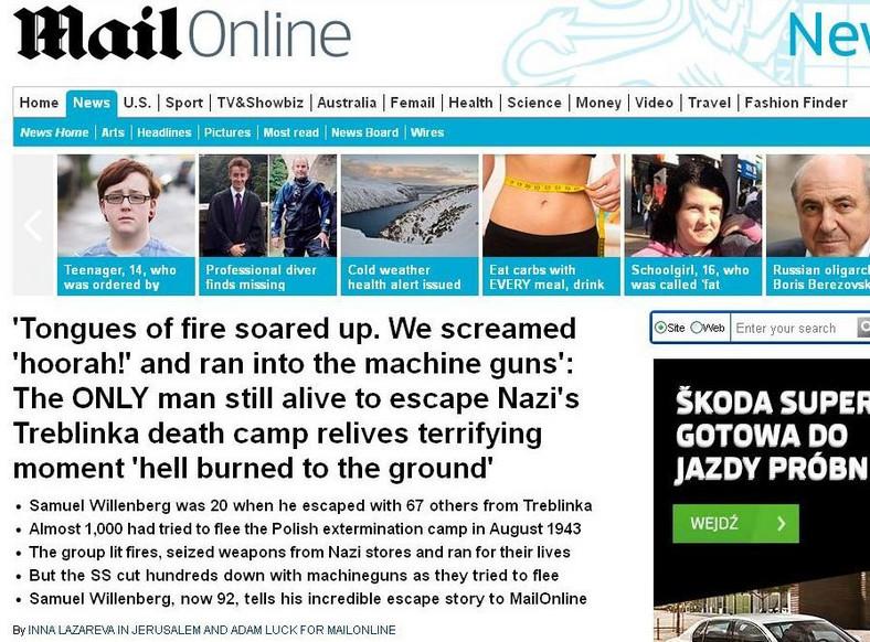 Artykuł w Daily Mail