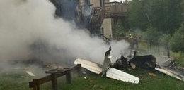 Samolot runął na dom. Trzy osoby nie żyją