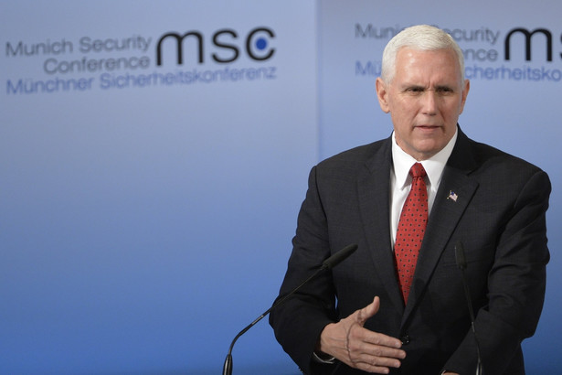 Wiceprezydent USA Mike Pence na 53. Konferencji Bezpieczeństwa w Monachium.