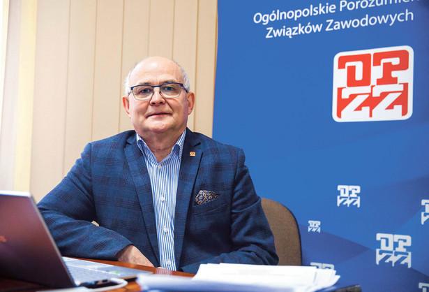 Andrzej Radzikowski, przewodniczący Ogólnopolskiego Porozumienia Związków Zawodowych
