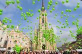 Baloni na novosadskom centralnom trgu