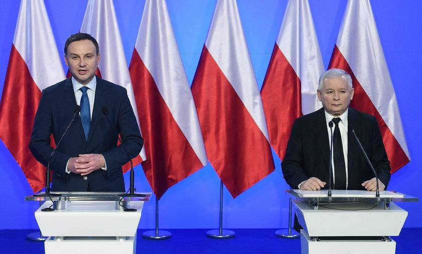 Andrzej Duda i Lech Kaczyński