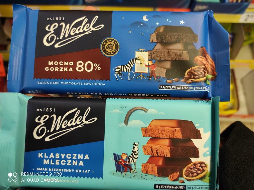 E.Wedel czekolada mleczna i gorzka