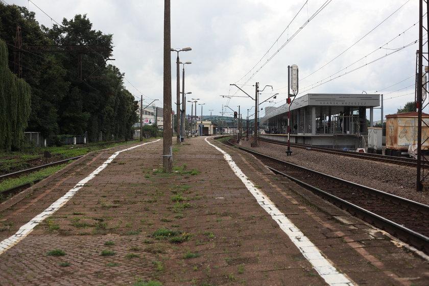 Peron dworca kolejowego w Gdańsku Wrzeszczu