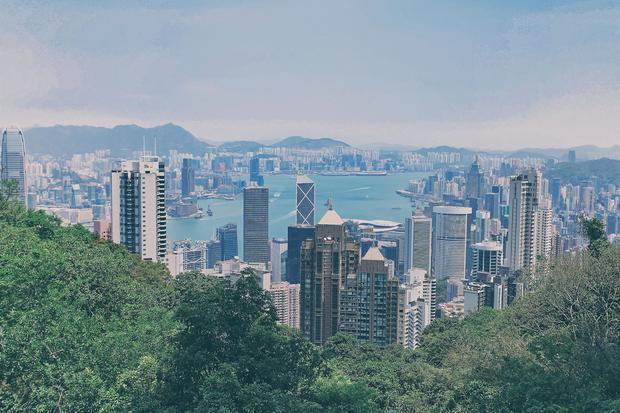 Hong Kong, widok ze wzgórza Wiktorii