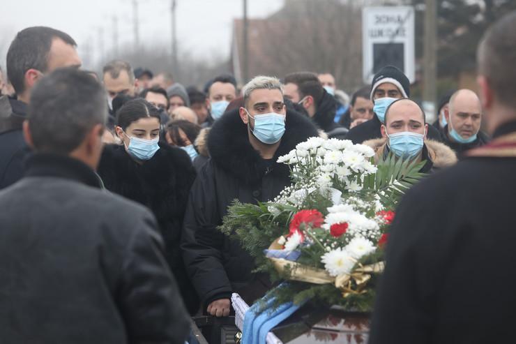 Darko Lazić, sahrana oca Milana