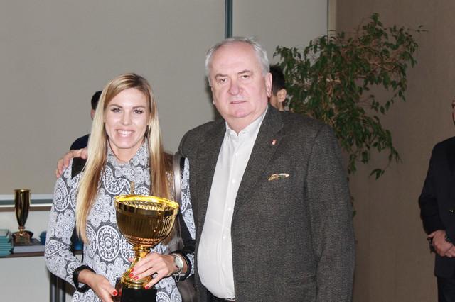 Milica Starović i predsednik OKS Božidar Maljković
