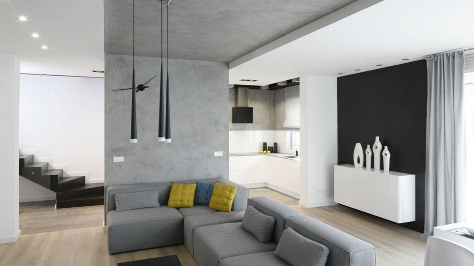 szary salon wci na topie zobaczcie 20 wn trz kt re najbardziej podobaj si polakom dom. Black Bedroom Furniture Sets. Home Design Ideas