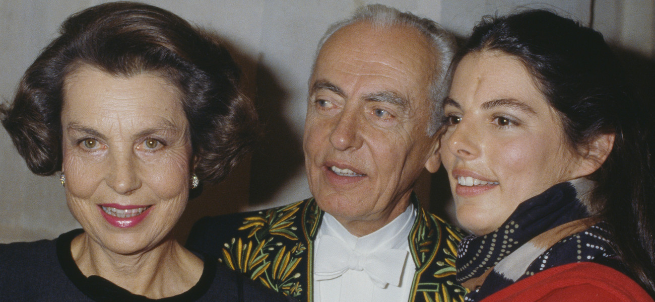 Getty / Françoise Bettencourt-Meyers z rodzicami