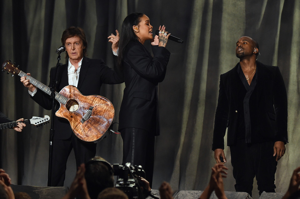 Paul McCartney, Rihanna i Kanye West na Grammy 2015