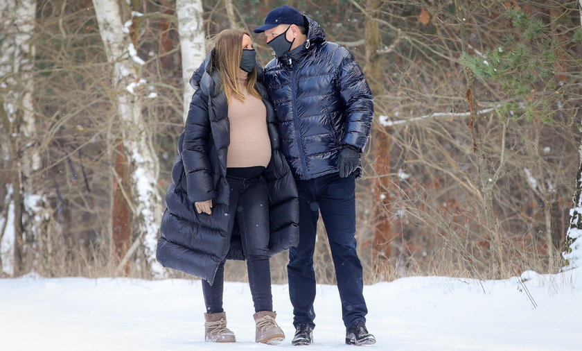 Jacek Kurski z żoną w ciąży