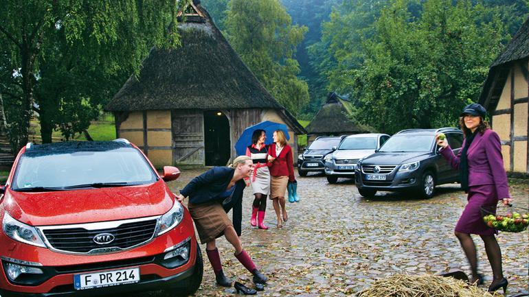Bo miasto to też jest jakiś teren: Kia Sportage kontra Ford Kuga, Toyota RAV4 i VW Tiguan