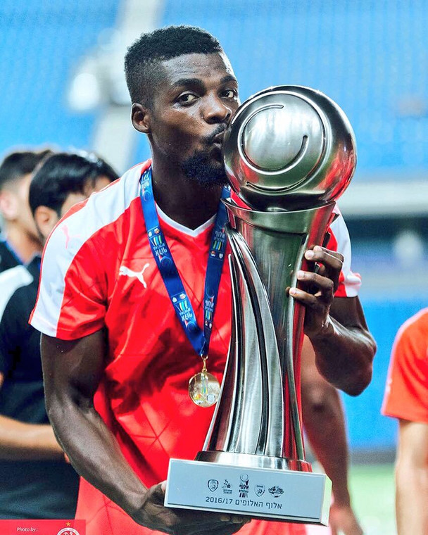 John Ogu won six domestic titles with Hapoel Beer Sheva during his five-year stay at the club