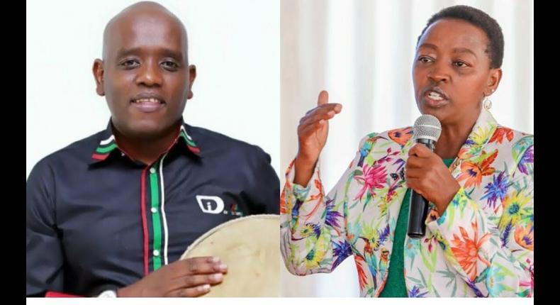 Dennis Itumbi with Rachel Ruto