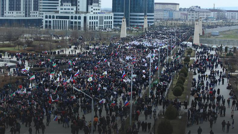 RUSSIA CHECHNYA RALLY (Rally in support of Chechen leader Ramzan Kadyrov)