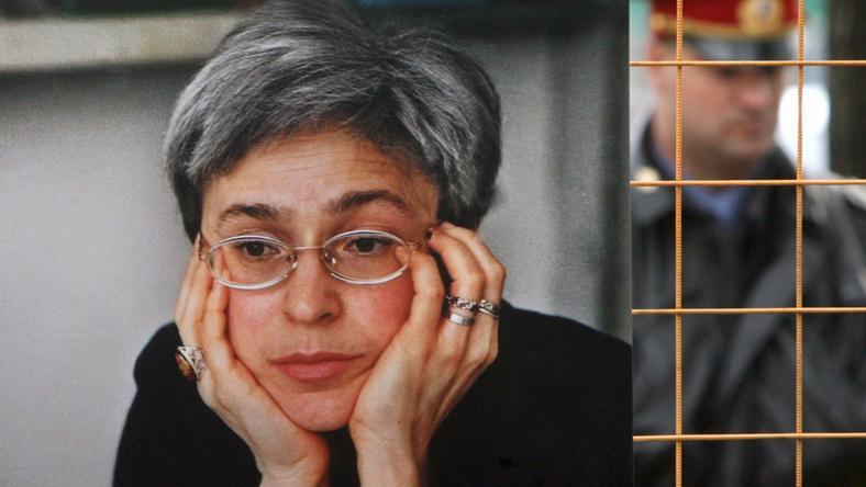 Portrett av Anna Politkovskaya på fotoutstillingen