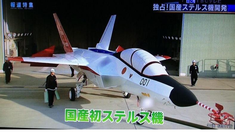 Japończycy zdecydowali się publicznie zademonstrować prototyp, mimo to część elementów samolotu pozostawili w tajemnicy...