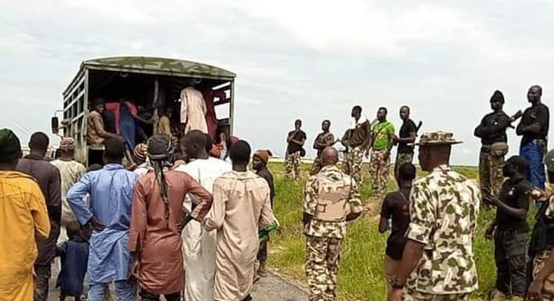 Troops prevent ISWAP from attacking surrendered terrorists in Borno. [Nigerian Army]