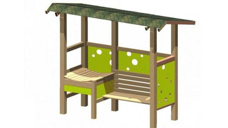 Jeden z projektów ławki dla matek