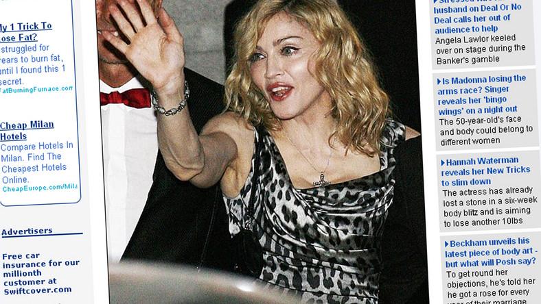 Zobacz oznaki starzenia się u Madonny