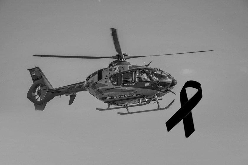 W katastrofie awionetki zw Dusznikach zginął członek HEMS Poznań.