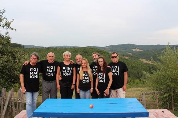 Sleva nadesno: Jože Kotar, Radovan Jandrić, Anica Radošević, Gorazd Čuk, Snežana Petrović, Nikolaj Mašukov, Jelena Sekulić Voljanek i Damjan Đakov