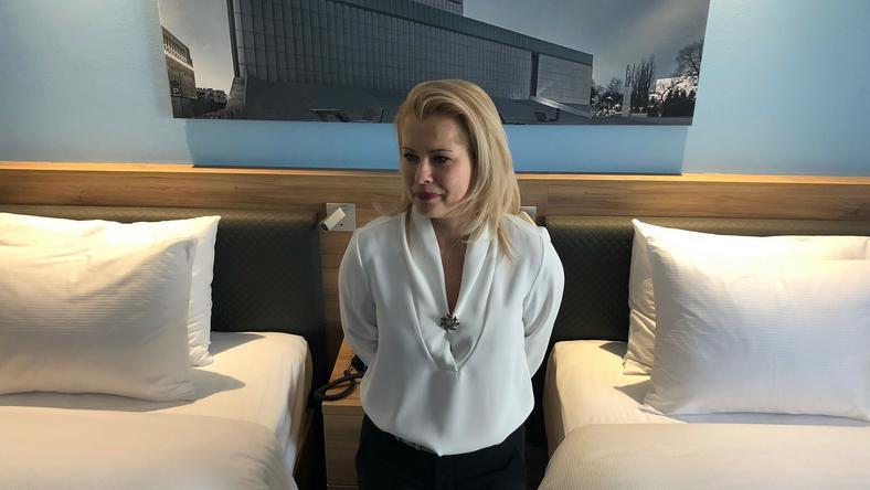 Anita Wysokińska w hotelu Hampton by Hilton
