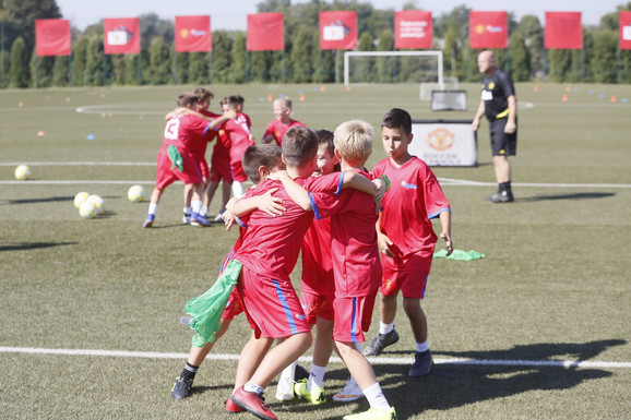 Polaznici Škole fudbala Mančester junajteda