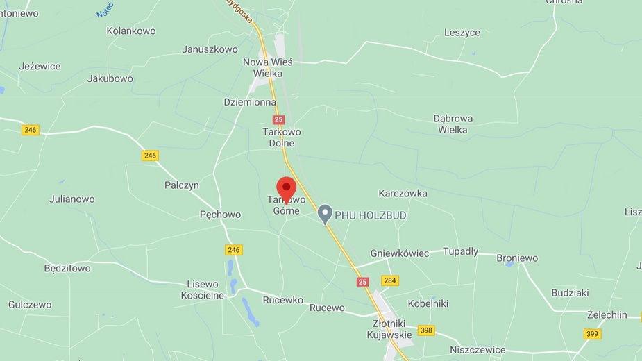 Do wypadku doszło w sobotę około godziny 8.50 na drodze krajowej numer 25 w miejscowości Tarkowo Górne w powiecie inowrocławskim