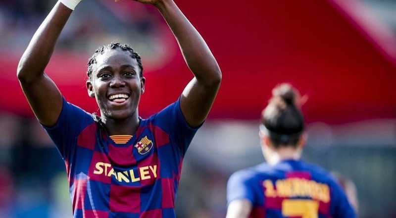 Super Falcons star Asisat Oshoala scores brace in Barcelona's 6-1 win over Atletico Madrid