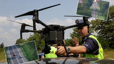 Policja używa dronów do łapania piratów drogowych. Nagranie z polskich dróg w sieci