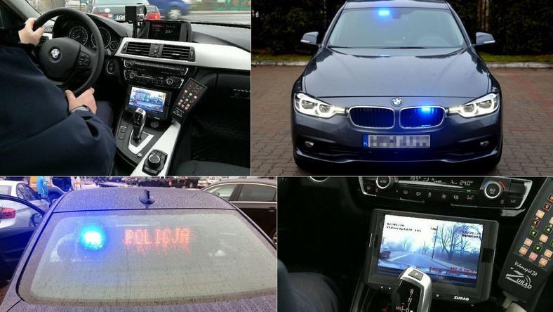 Nieoznakowane BMW polskiej drogówki