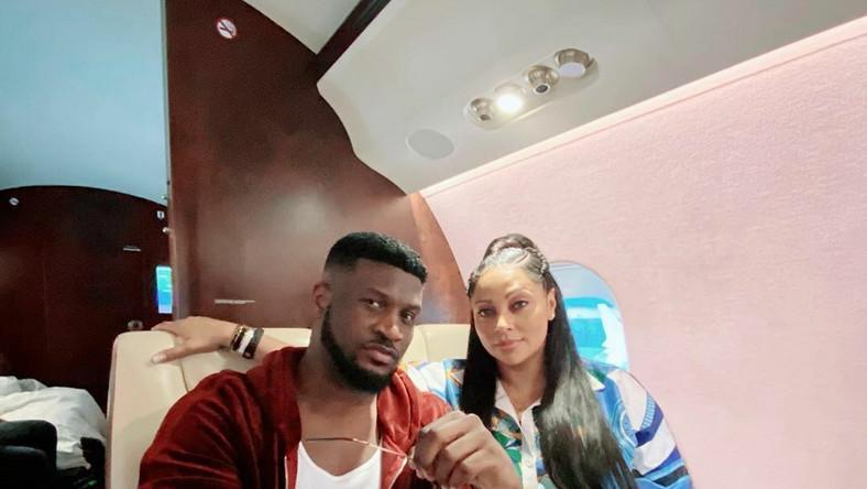 Peter Okoye and wife, Lola Omotayo-Okoye. [Instagram/PeterPsquare]