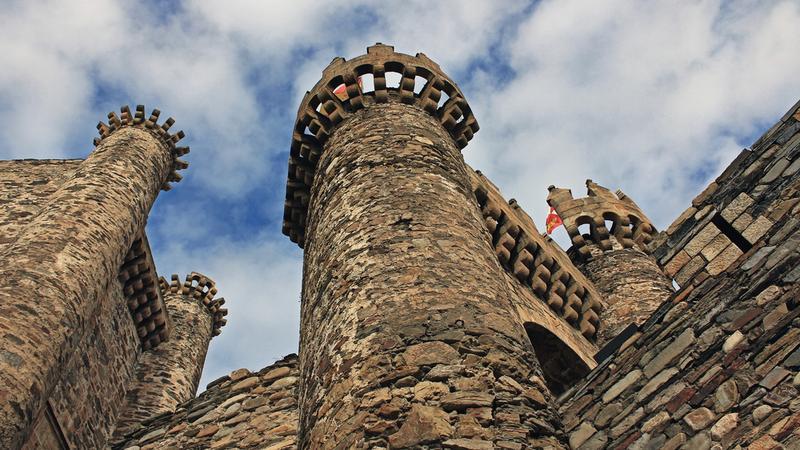 Zamek templariuszy w Ponferrada (Hiszpania)