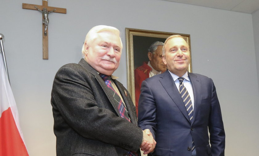 Lech Wałęsa i Grzegorz Schetyna