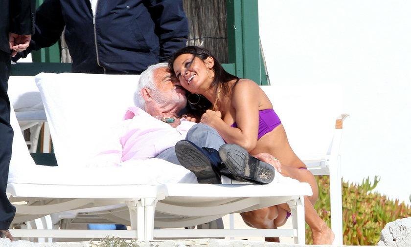 Jean Paul Belmondo and Barbara Gandolfi