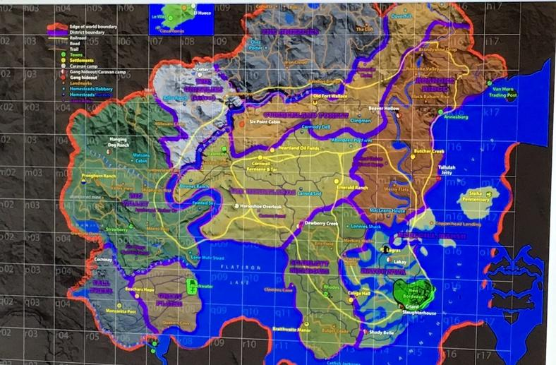 Red Dead Redemption 2 - mapa