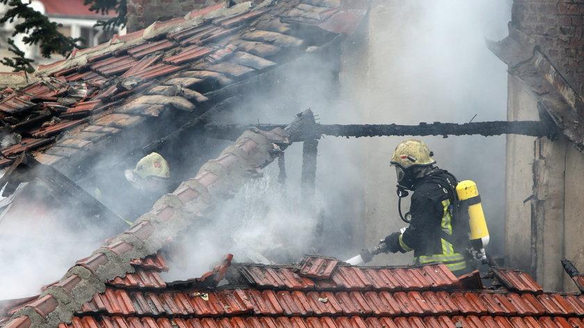 Pożar w Krakowie.