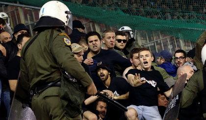 Wielka burda na meczu w Grecji. Szokujące zdjęcia