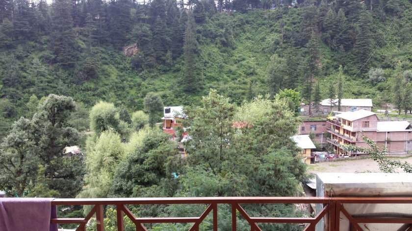 Widok z hotelu w Manali, w którym przebywał Bruno