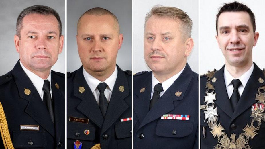 Arkadiusz Przybyła, Dariusz Matczak, Jarosław Nowosielski i Mariusz Feltynowski