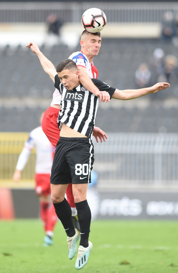 Detalj sa utakmice Partizan - Vojvodina