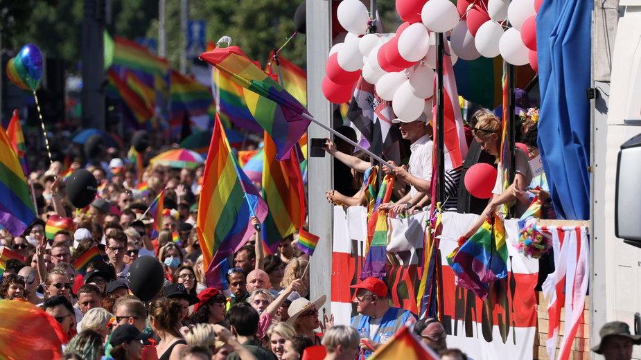 Parada równości w Warszawie 2021