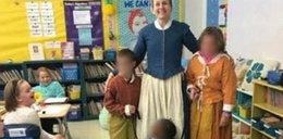 Skandaliczne zdjęcie. Zrobili z uczennicy niewolnicę?