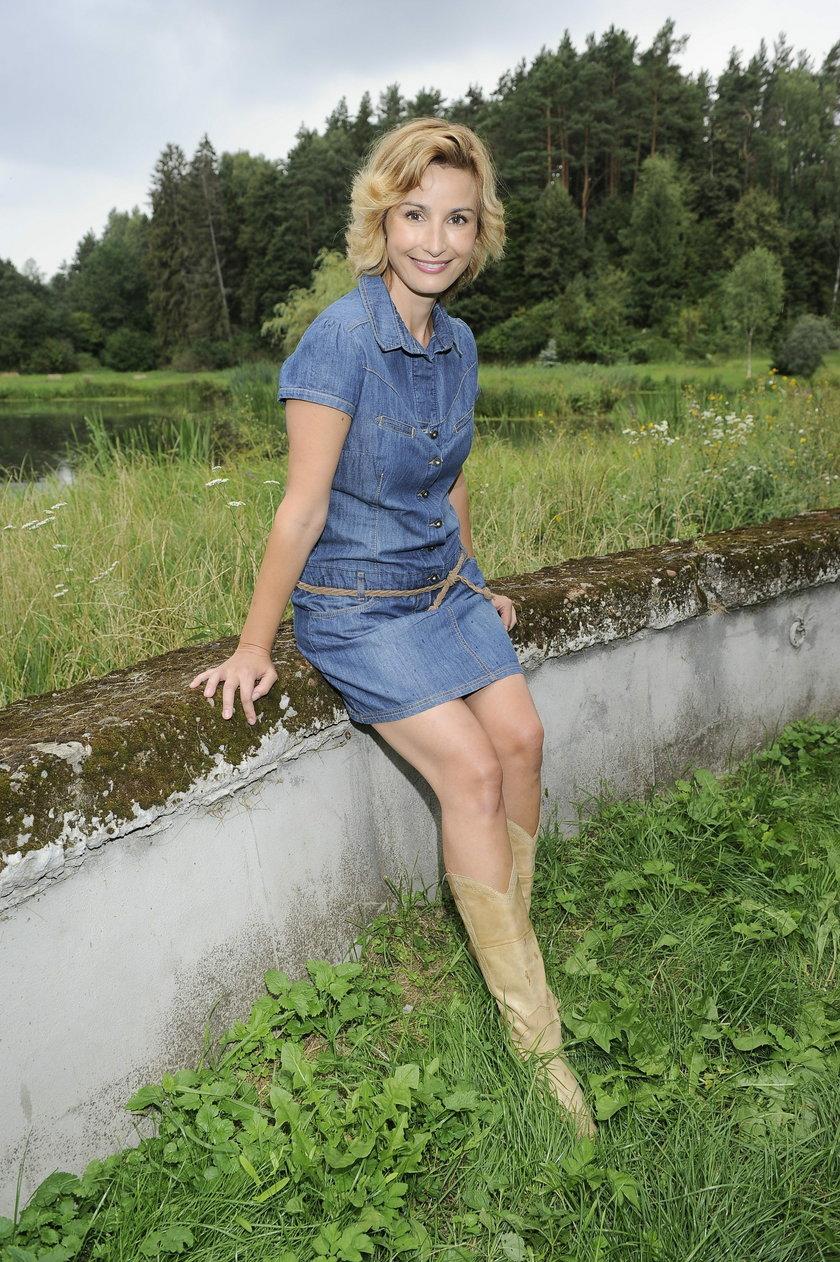 Joanna Brodzik pokazała nogi